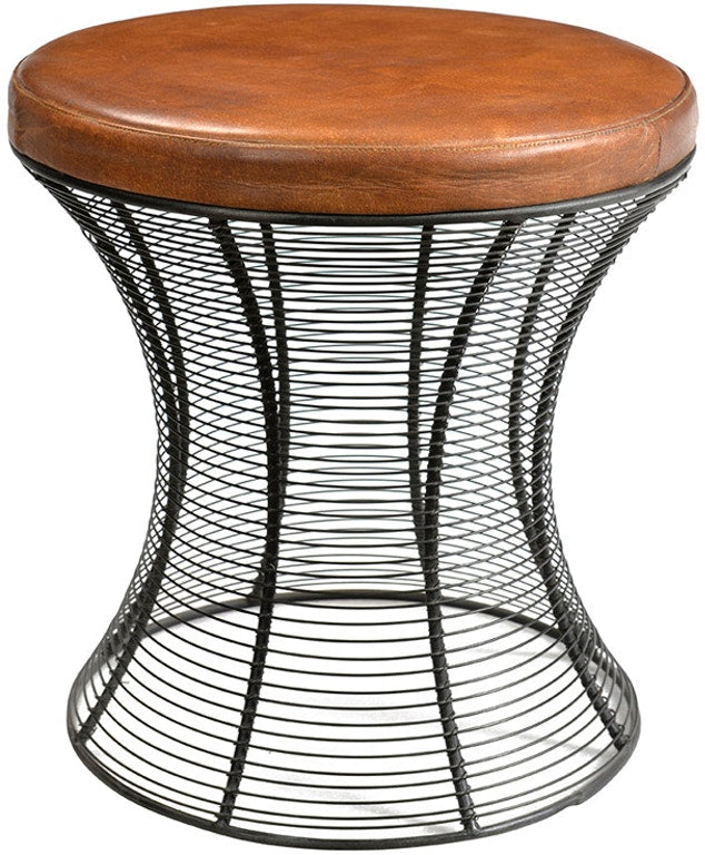 Wood and Metal Modern Stool - Mix Home Mercantile