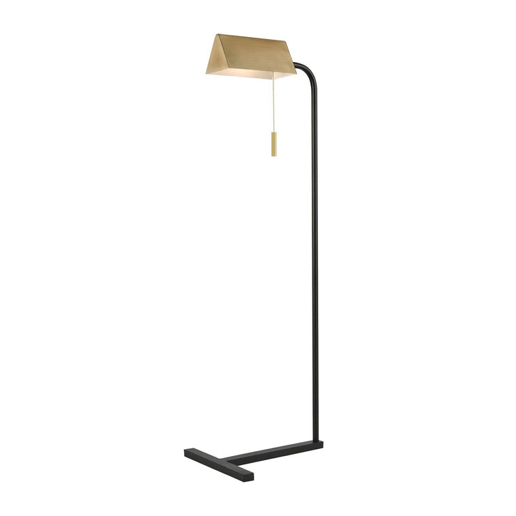 Modern Black and Chrome Floor Lamp