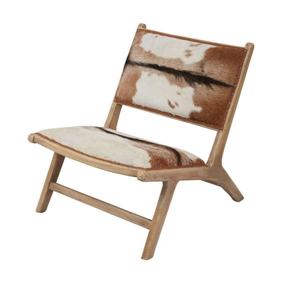 Modern Hairon Leather Lounger - Mix Home Mercantile
