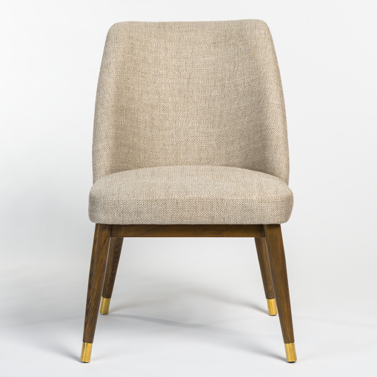 Upholstered Herring Bone Dining Chair - Mix Home Mercantile