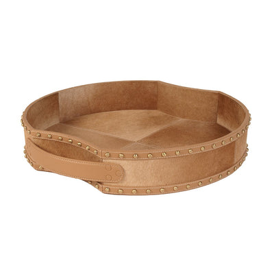 Tan Faux Leather Tray - Mix Home Mercantile