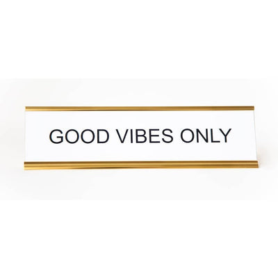 Good Vibes Nameplate - Mix Home Mercantile