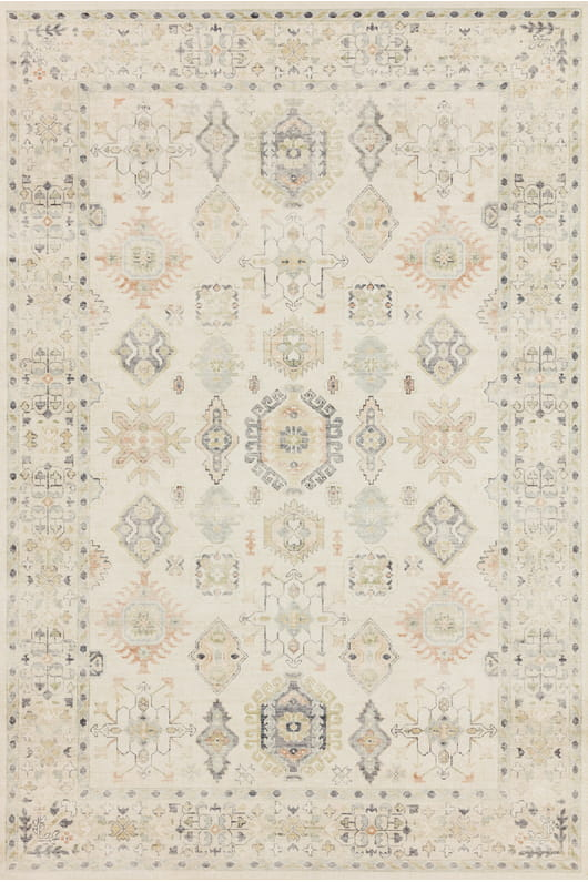 "5' X 7' 6"" Beige / Multi Area Rug - Mix Home Mercantile"