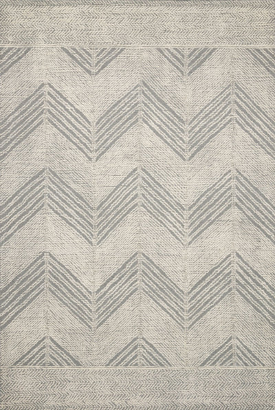 "5' x 7' 6"" Wool Gray/Ivory Herringbone Rug - Mix Home Mercantile"
