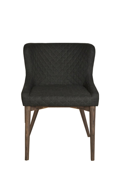Dark Grey Upholstered Dining Chair - Mix Home Mercantile