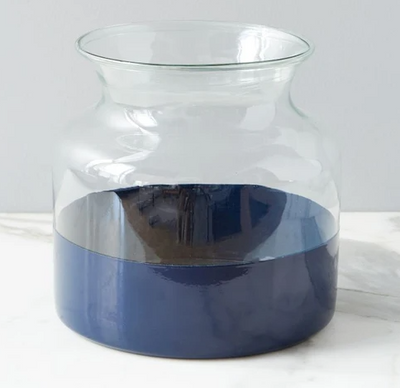 Navy Colorblock Vase - Mix Home Mercantile
