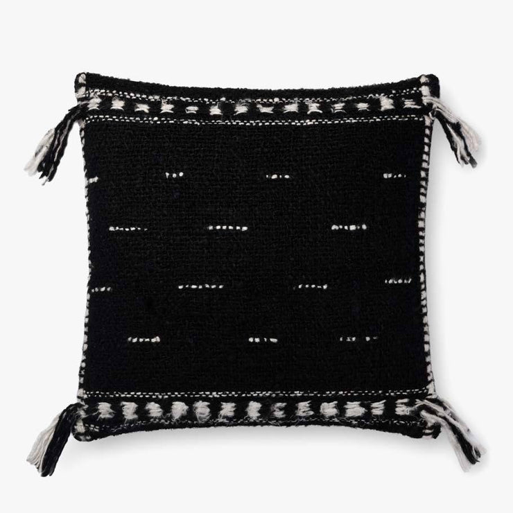 "20"" Black Tassel Pillow - Mix Home Mercantile"