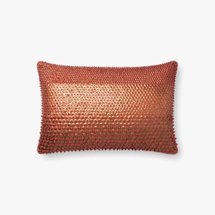 13 x 21 Rust and Gold Down Kidney Pillow - Mix Home Mercantile