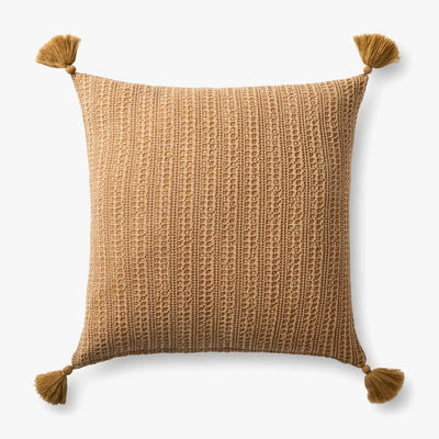 "20"" Down Fill Gold Pillow - Mix Home Mercantile"