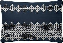 "16"" X 26"" Navy and Ivory Pillow - Mix Home Mercantile"