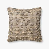 "22"" Grey/Multi Down Pillow - Mix Home Mercantile"