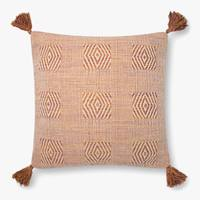 "22"" Down Rust Tassel Pillow - Mix Home Mercantile"