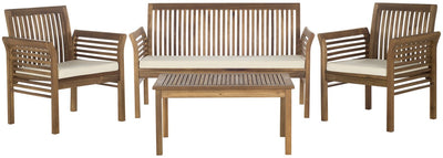 4-Pc Outdoor Natural Beige Patio Set - Mix Home Mercantile