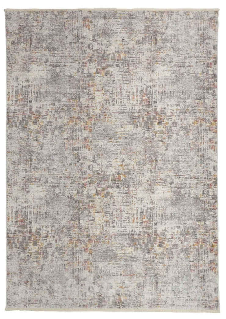 "7'6"" x 9'7"" Gray and Beige Rug - Mix Home Mercantile"