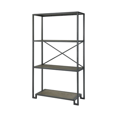 Metal and Oak Mezzanine Shelves - Mix Home Mercantile