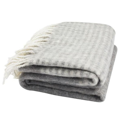Gray Throw with Stripes