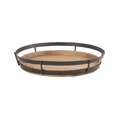 Rustic Wood and Metal Tray - Mix Home Mercantile