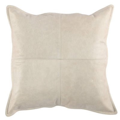 "Gray Leather 22"" Pillow - Mix Home Mercantile"
