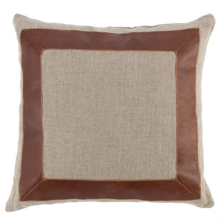 "22"" Suede and Linen Pillow - Mix Home Mercantile"
