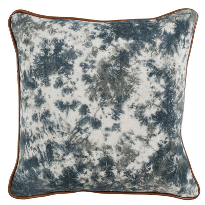 "18"" Down Filled Blue Multi Pillow - Mix Home Mercantile"