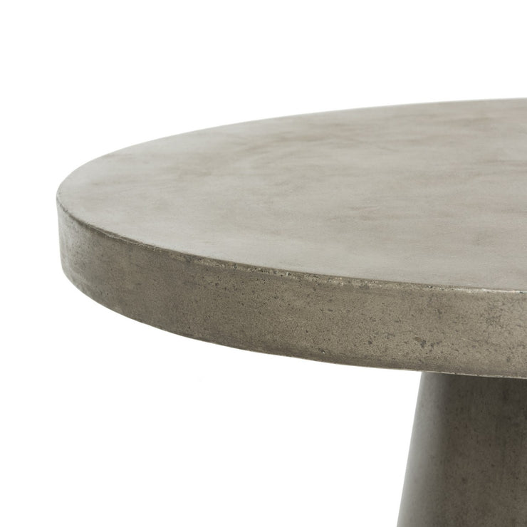 Outdoor Round Concrete Coffee Table - Mix Home Mercantile