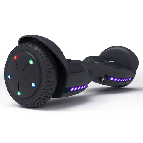 Kids Hoverboard Bluetooth with  Led Lights| TOMOLOO Fire Kylin Q2C/Q3C Hoverboard Black/Blue/Pink
