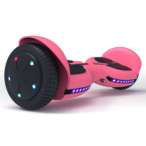Image of Kids Hoverboard Bluetooth with with Led Lights| TOMOLOO Fire Kylin Q2C/Q3C Hoverboard Black/Blue/Pink