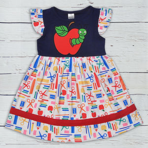 CONICE NINI Boutique Baby Girl Children Back To School Cotton Baby Remake Clothes Girls Ruffle Dresses LYQ904-759-HY
