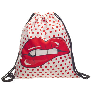 Women drawstring backpack