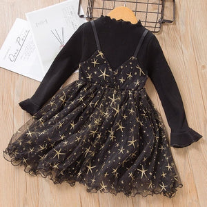 Fashionable Leopard Girls Dresses With belt