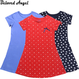 2020 Summer Short Sleeves Girls Vintage Dresses
