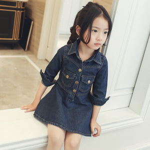 Girl's Demin Dress Coat