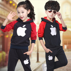 Kaqukaqi Boy Girl Apple Track Suit