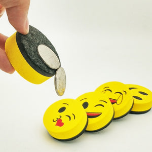 Yellow Smile Face Whiteboard Eraser