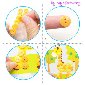 Button Stickers Drawing Kids Toys