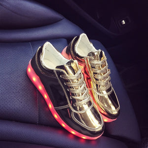 USB Charge Boys LED Shoes