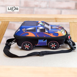 3D Car Children School Bags