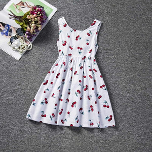 Summer Floral Print Girl Dress