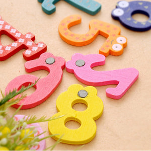 Magnetic Wooden Numbers Math Set Toys