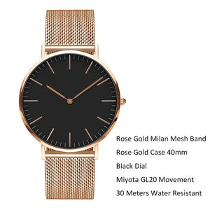 Stainless Steel Bracelet Quartz Watch