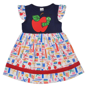 Baby Girls Dress Princess dress Summer Back to school Children Clothing Apple pattern Boutique Summer Dress