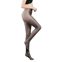 Metelam Women's Shiny Tights 70 Den Thickness Plus Size Footed Stockings Pantyhose for Women Girls-pantyhose-Metelam