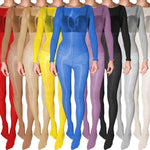 High Glossy Oil Shiny Full Bodystocking Nylon Bodysuit Tights Bodyhose-bodysuit-Metelam