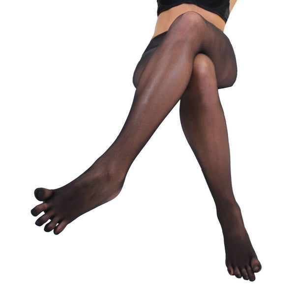 Women Seamless Sheer Separate 5 Toe Glove Pantyhose Transparent Tights Stockings-tights-Metelam