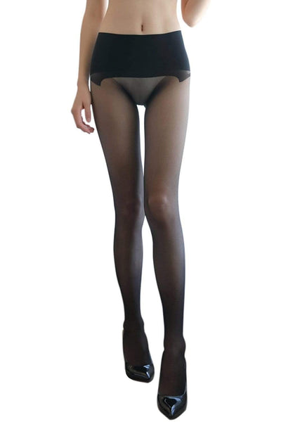 Women's High Waist Seamless Pantyhose Sheer Stockings Tights See Through Hosiery-pantyhose-Metelam