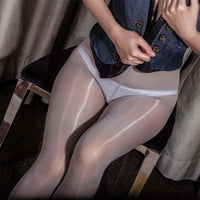 Metelam Ladies Top Quality Plus Size Super Shiny Glossy Pantyhose Sheer Stockings Tights-pantyhose-Metelam