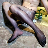Metelam 1D High Quality Ultra-thin Shiny Glossy Mens Sheer Sexy Pantyhose Nylon Stocking Tights