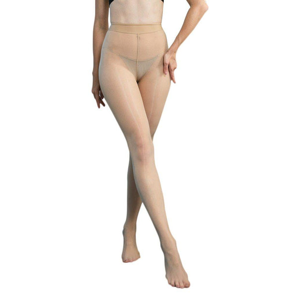Metelam Women's Shiny Sheer Tights Pantyhose Crotchless Smoothly Body Stockings