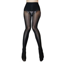 Metelam Womens High Waist Glossy Seamless Pantyhose Stretchy Shape Stockings