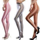 Metelam Women's Sexy Glossy Pantyhose Semi-Opaque Silky Smoothly Bodycon Tights